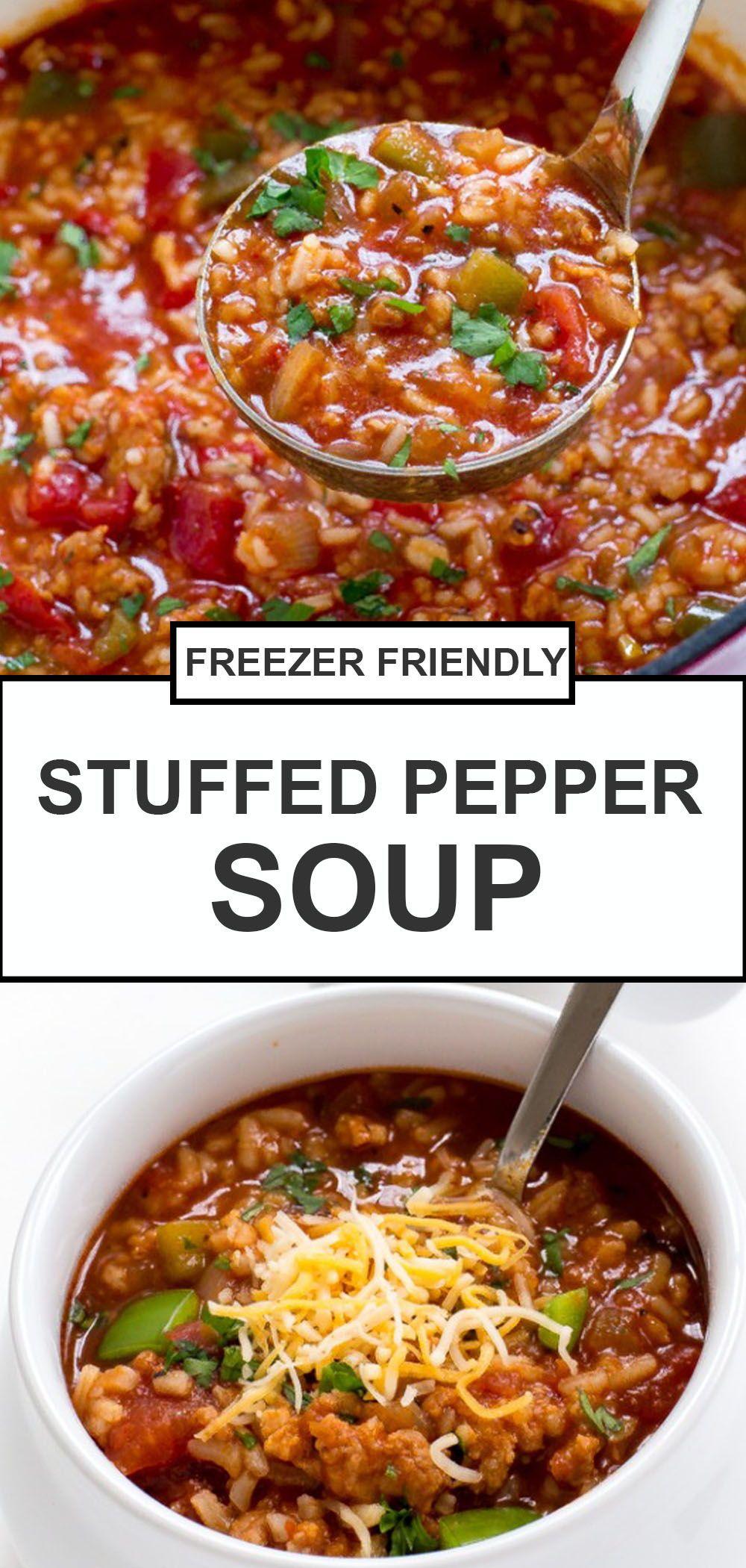 Easy Stuffed Pepper Soup Recipe One Pot Chef Savvy Recipe In 2020 Stuffed Pepper Soup Healthy Beef Recipes Stuffed Peppers