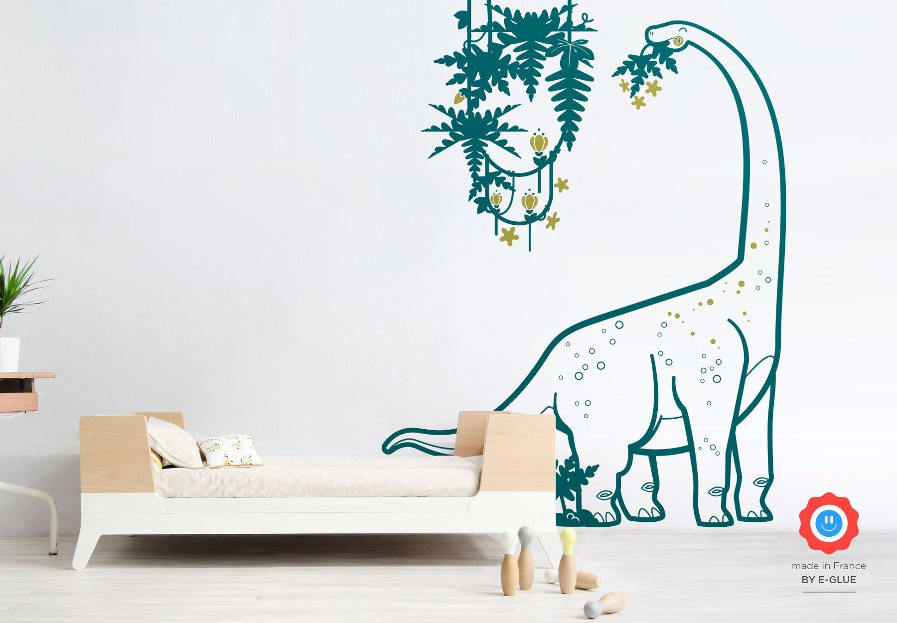 Dinosaur Wall Decals For Kids Room Diplodocus And Liana Large Boys Wall Stickers Kids Room Wall Decals Kids Room Wall Kids Wall Decals