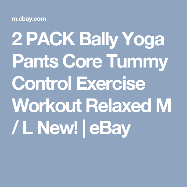 e454fb638758a 2 PACK Bally Yoga Pants Core Tummy Control Exercise Workout Relaxed M / L  New! | eBay
