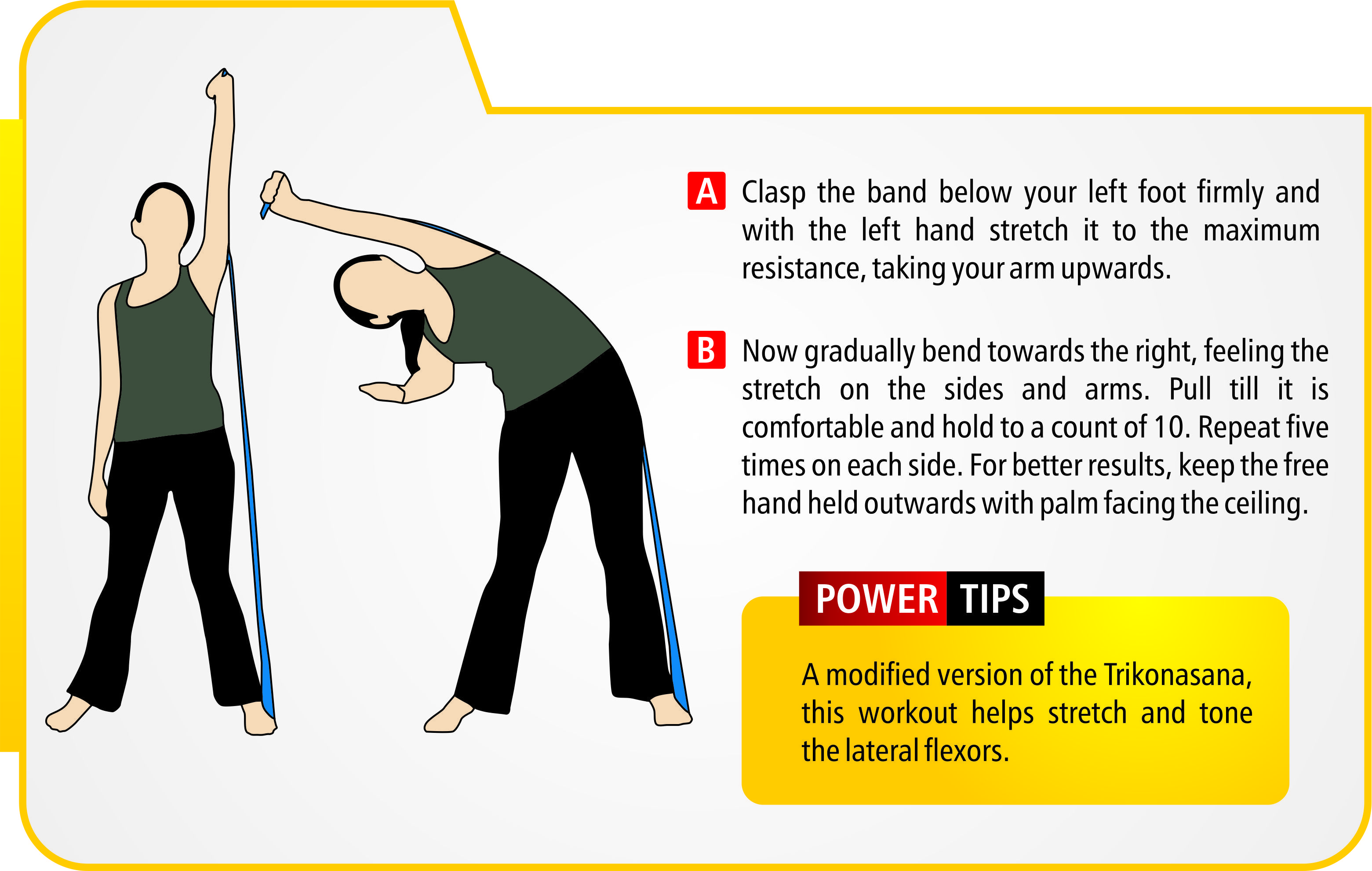 Lateral flexors (exercise / resistance bands should be used under professional supervision & guidance).