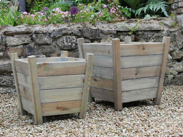 Beautiful Kingham Wooden Planters   Large #urbangardening #containergarden #planter
