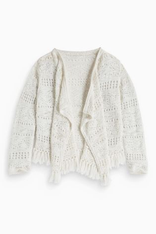 Buy Crochet Waterfall Cardigan (3-16yrs) online today at Next ...