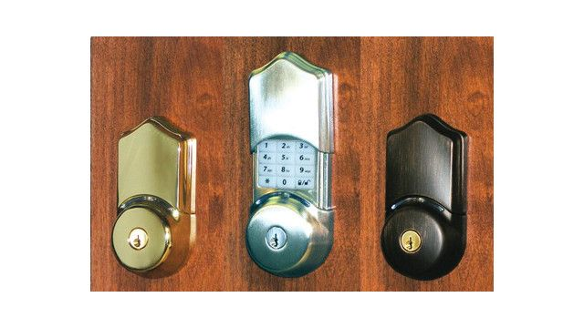 This Electronic Keypad Deadbolt Residential Door Lock Can Be Unlocked With A Key Code Or Keyfob Remote Deadbolt Keypad Deadbolt Home Security