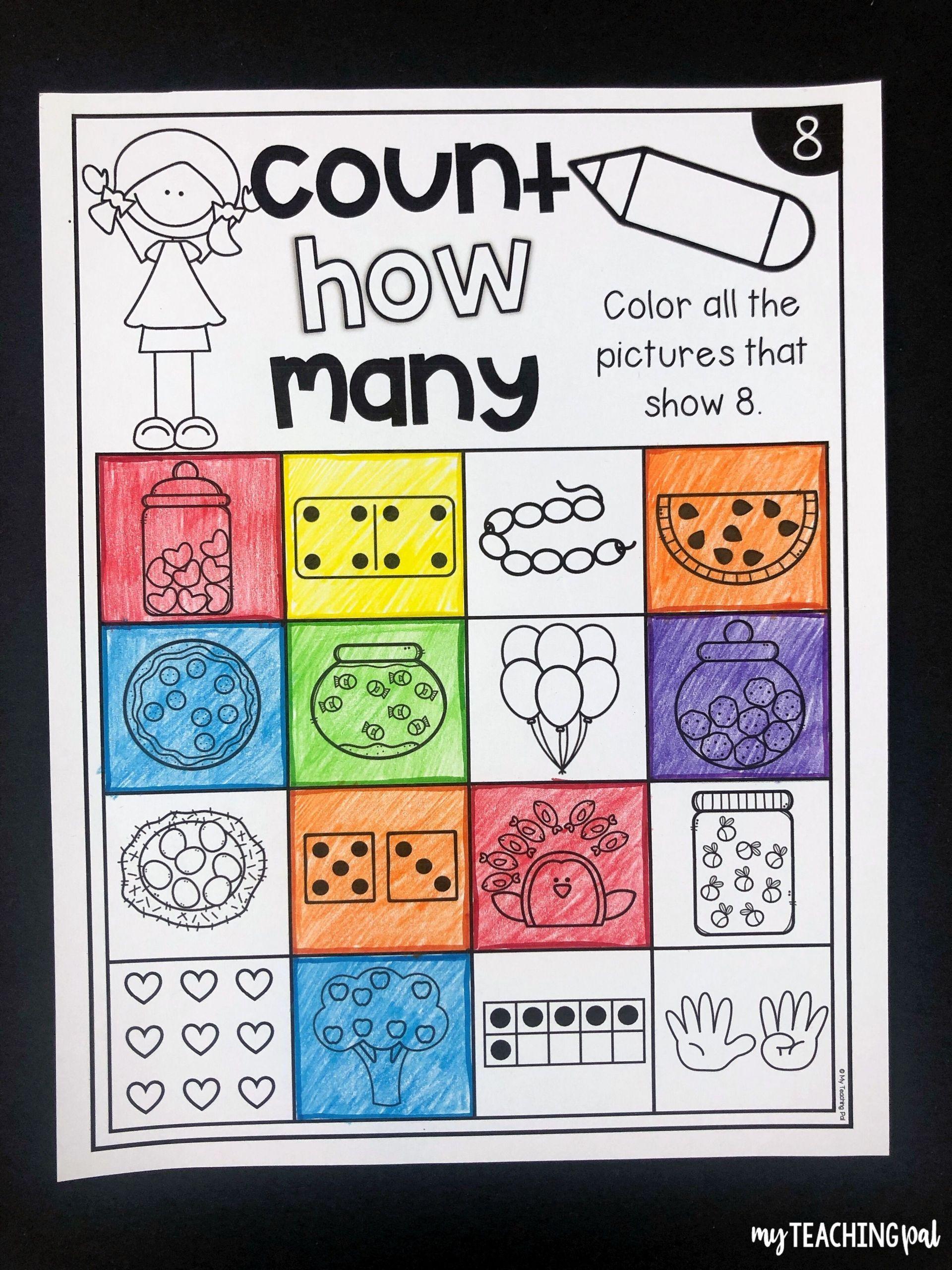5 Counting Activities Preschool Worksheets In