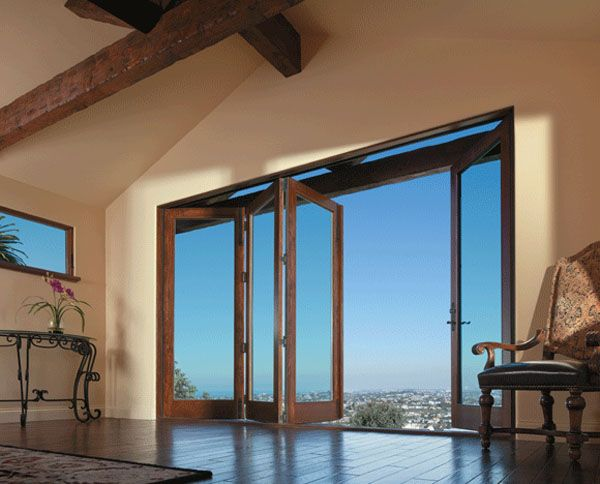 Andersen Multiple Panel Hinged Patio Door Installation Kansas City Andersen Patio Doors Exterior Doors Patio Door Installation