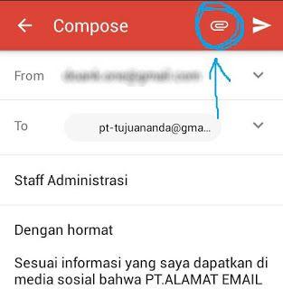 Cara Mengirim Surat Lamaran Kerja Via Email di HP Android ...
