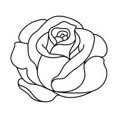 Rose Outline Stock Photos Royalty Free Images Vectors Video In 2020 Rose Outline Drawing Roses Drawing Rose Outline