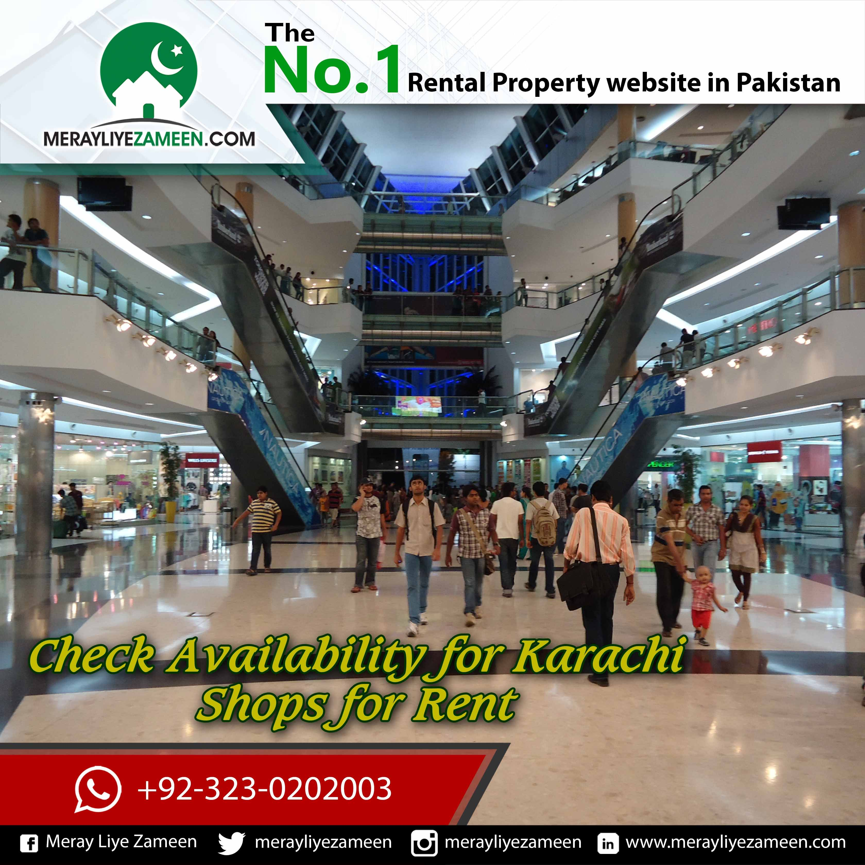 Check Availability For #Karachi #Malls #Shop For Rent
