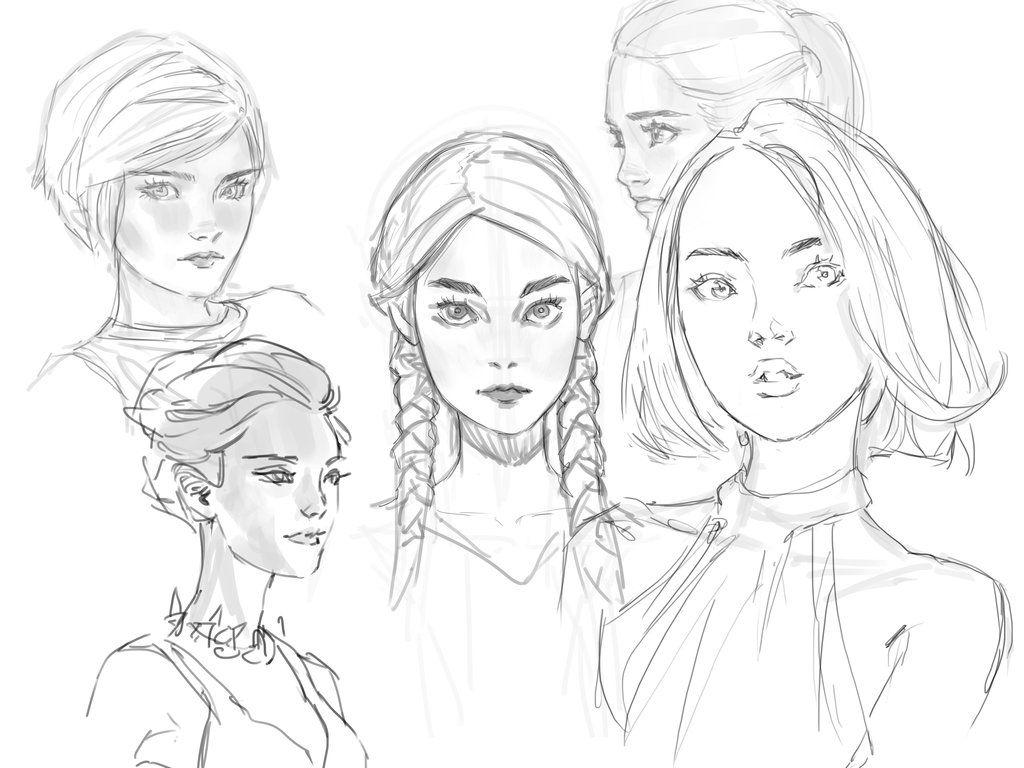 Sketching Faces by medders.deviantart.com on @DeviantArt
