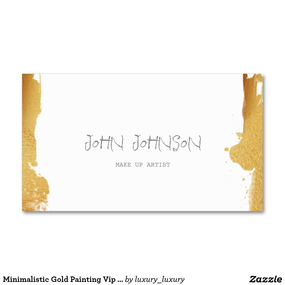 Minimalistic gold painting vip business card reheart Images