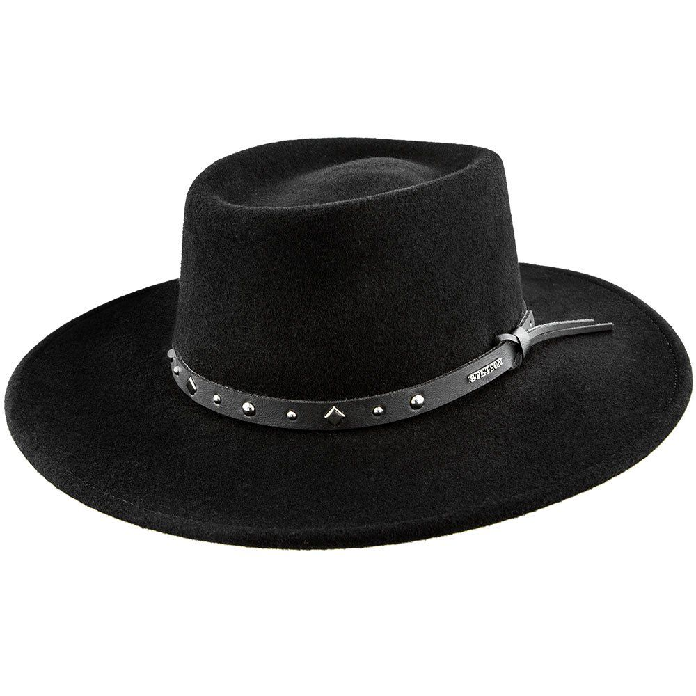 ffc9d82e977 Lowest Price on Black Hawk - Stetson Felt Crushable Gambler Hat - SWBKHK.