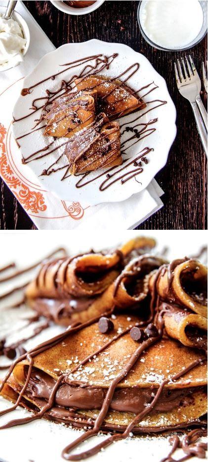 Nutella Pumpkin Crepes Recipe