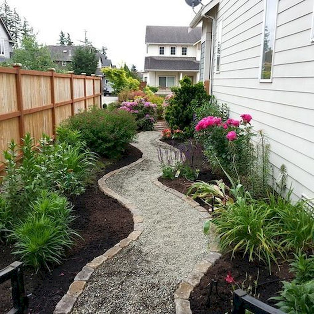 90 Beautiful Side Yard Garden Path Design Ideas | Side ... on Side Yard Designs  id=77881
