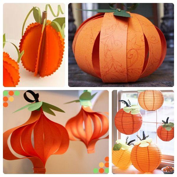 calabaza de papel Halloween Pinterest Decoraciones de