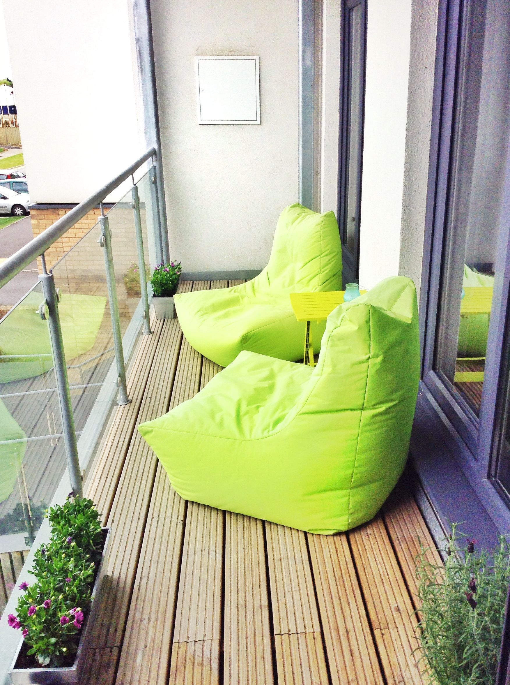 Green Beanbags For Small Balcony
