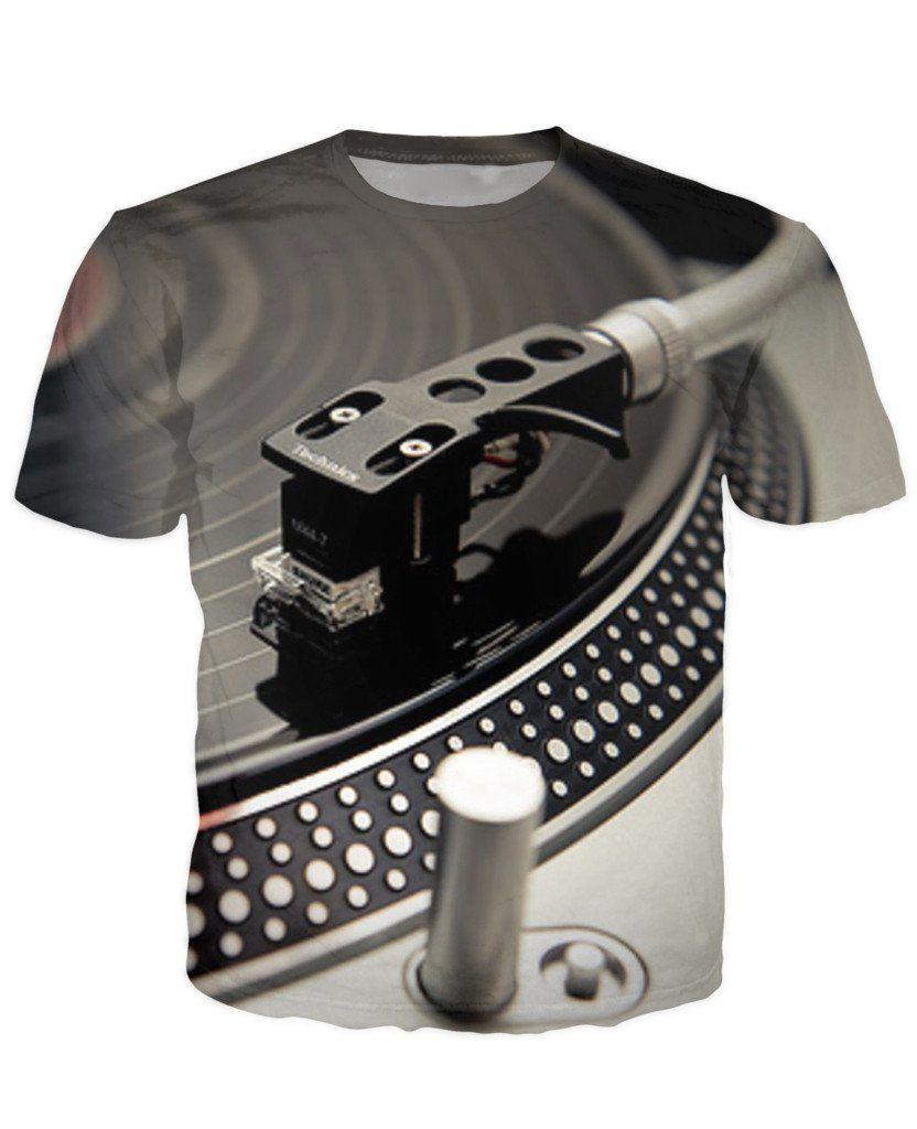 Für die Vinyl-only-Fraktion: Technics 3D T-Shirt