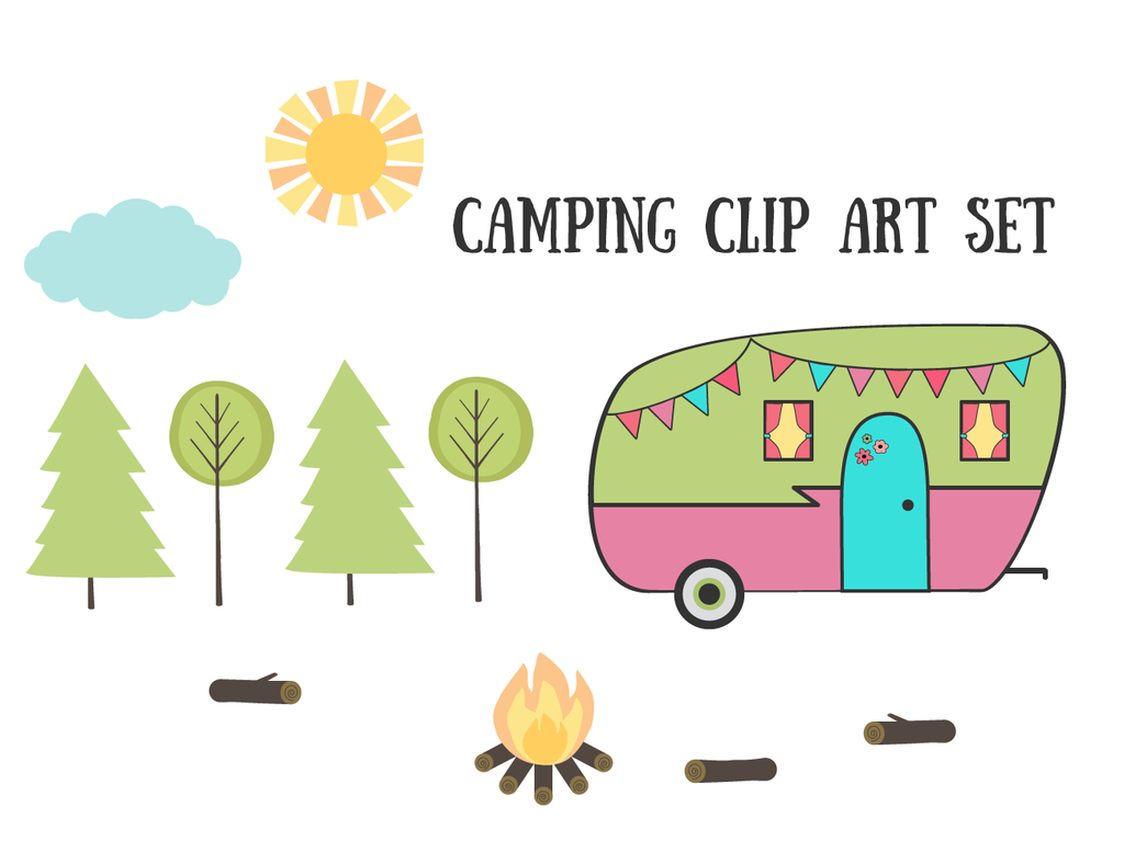 Free Vintage Retro Camping Clip Art Set By Starsunflowerstudiodeviantart On DeviantArt