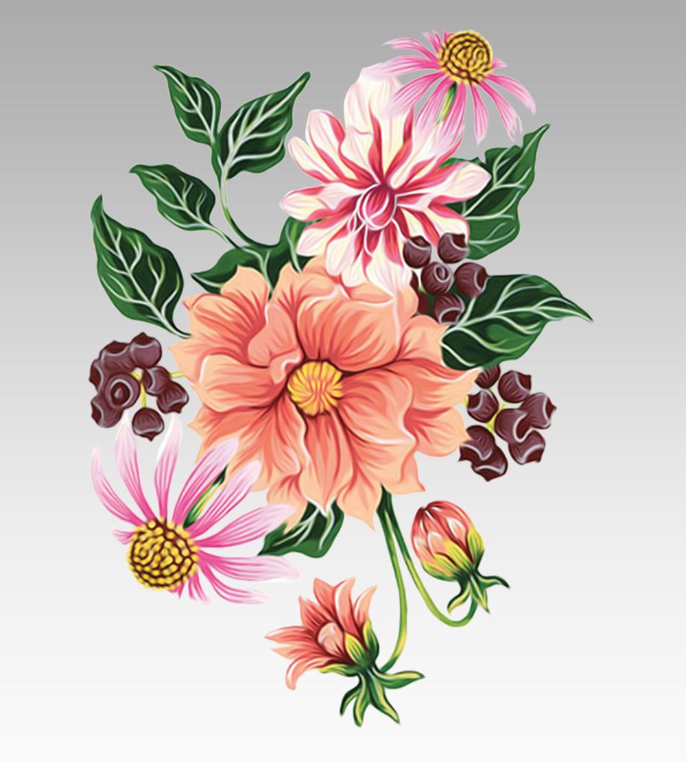 Flowers On Behance Flower Drawing Design Beautiful Flower Drawings Abstract Flower Art