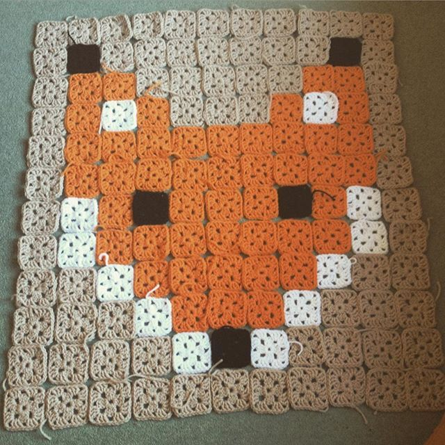 Fox granny square blanket (almost done) by freja_m_ | Education ...