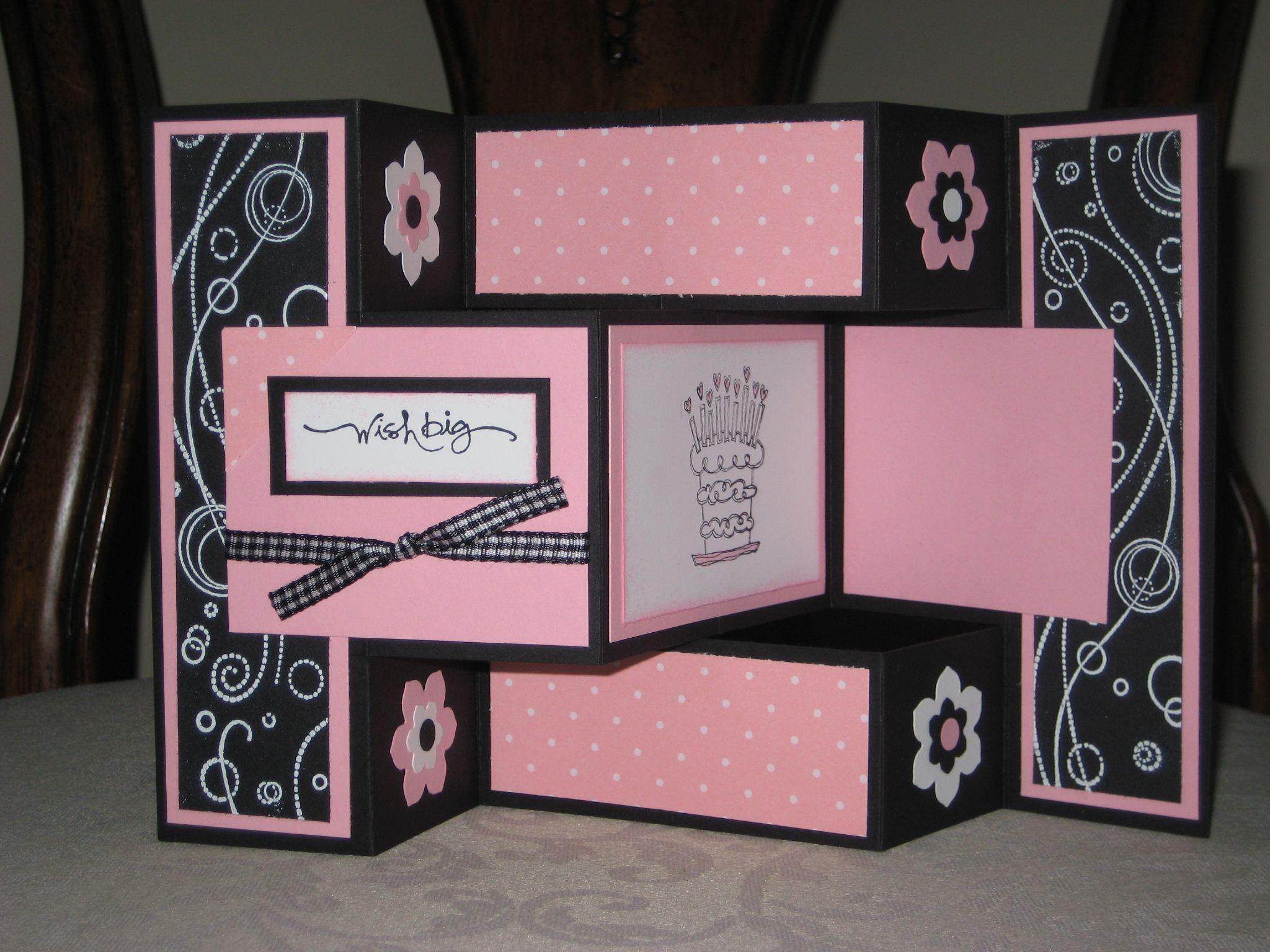 Для девушек, бери и делай открытка раскладушка