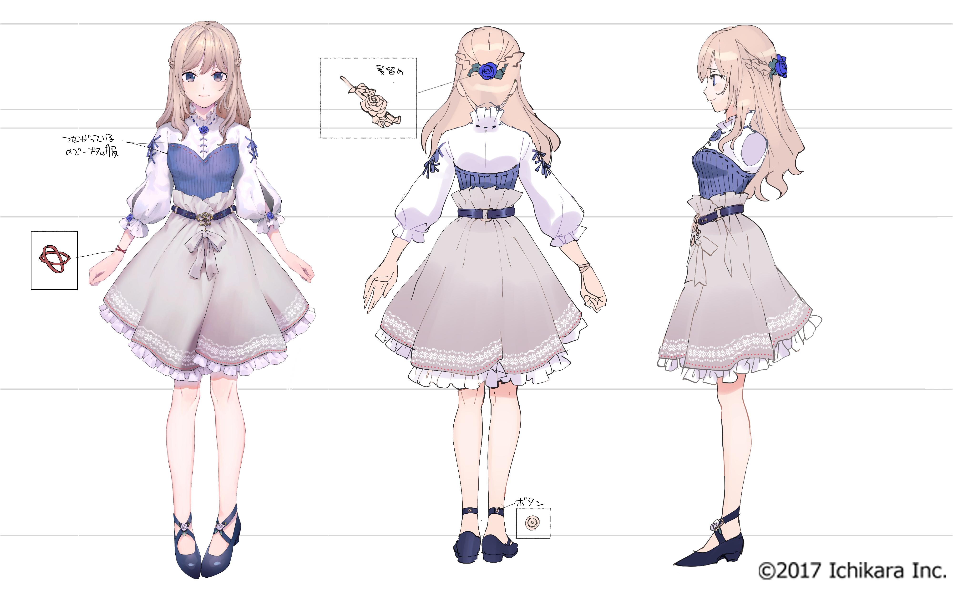 소나기 なぎ nijisanji kr on twitter female character design character model sheet character design