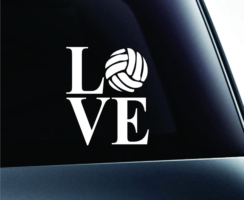 Amazon Com Love Volleyball Symbol Decal Funny Car Truck Sticker Window White Automotive Truck Stickers Car Humor Cars Trucks