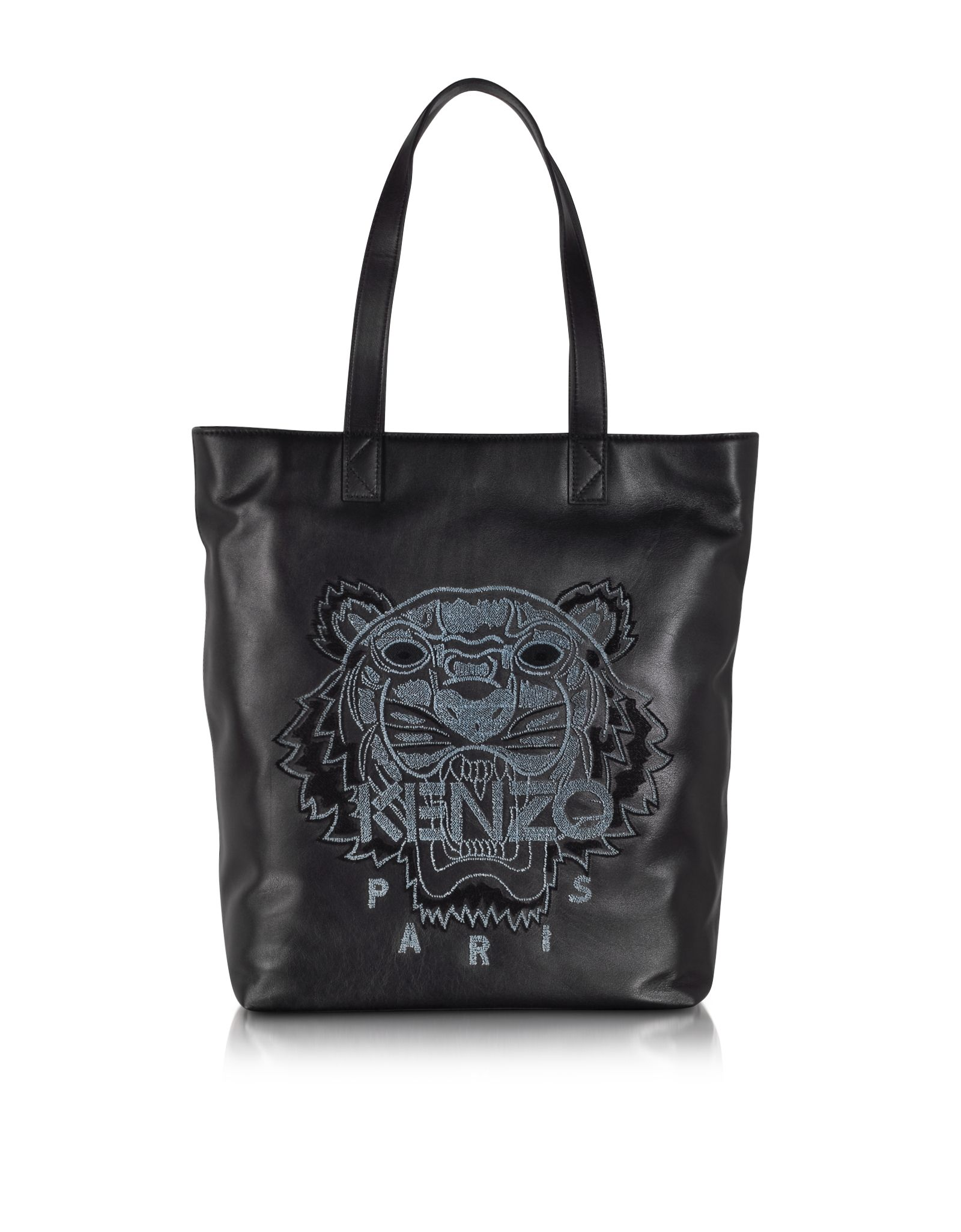 bd1203405910 Kenzo Black Leather Tiger Tote Bag at FORZIERI
