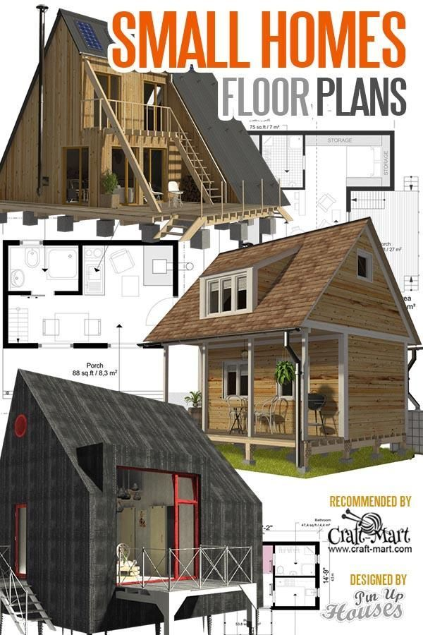 Tiny House Plans And Cabins Prefabs Kits Diy Plans Craft Mart Tiny House Plans Small House Plans House Floor Plans