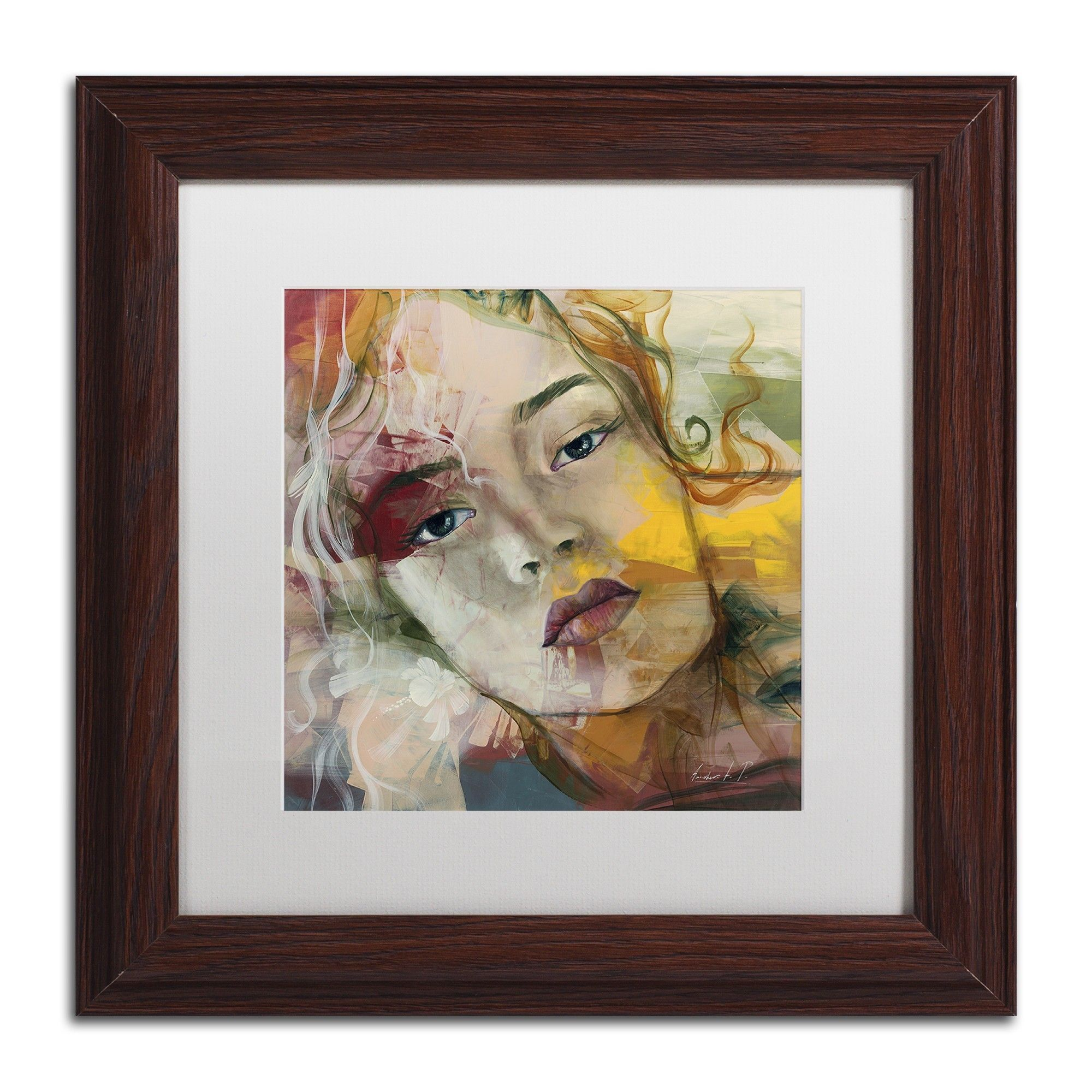 Te Recuerdo by Andrea Matted Framed Painting Print