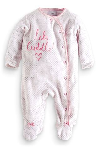 ebe90c0f783 Buy Lets Cuddle Velour Sleepsuit (0-18mths) from the Next UK online shop