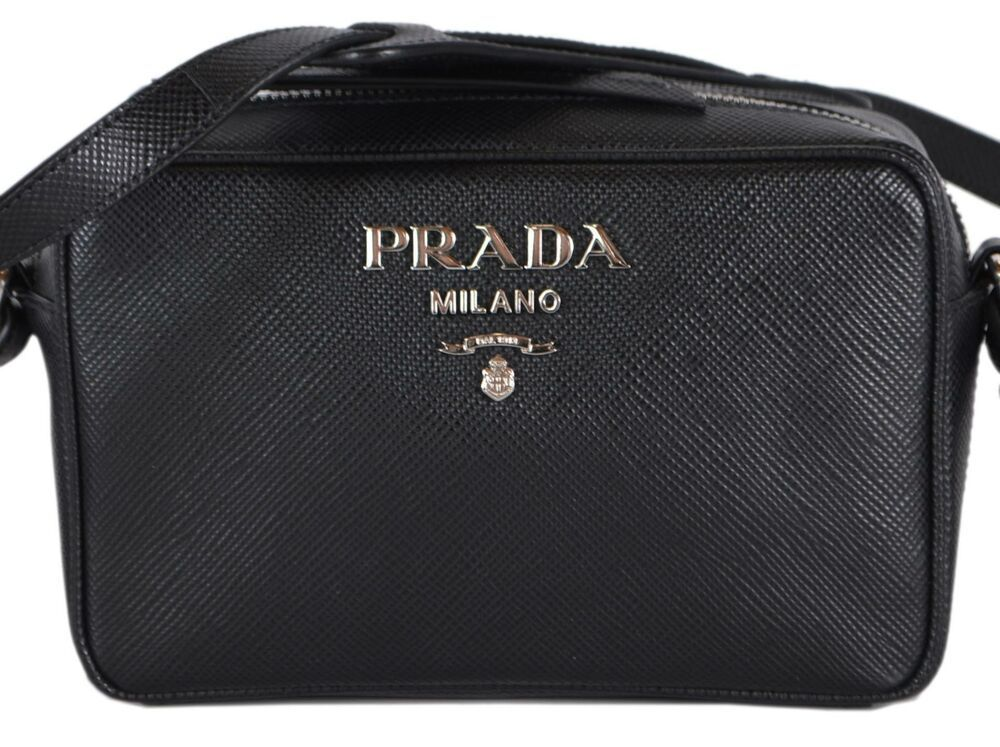 0d3b8be25c3a New Prada 1BH096 Black Saffiano Leather Bandoliera Small Crossbody Purse  Bag #Prada #Crossbody