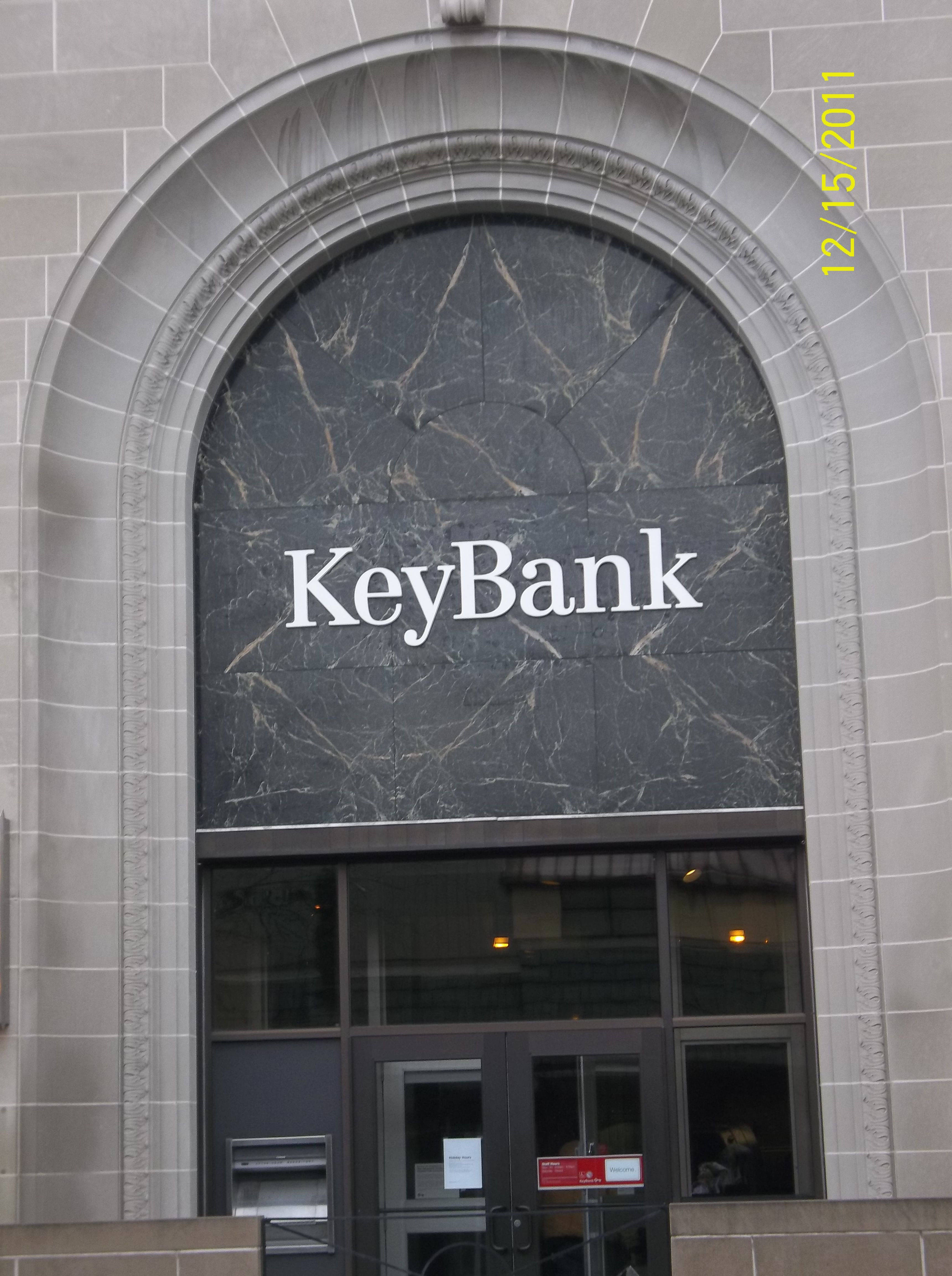 Key Bank in Downtown Mansfield, Ohio Credit card, Key