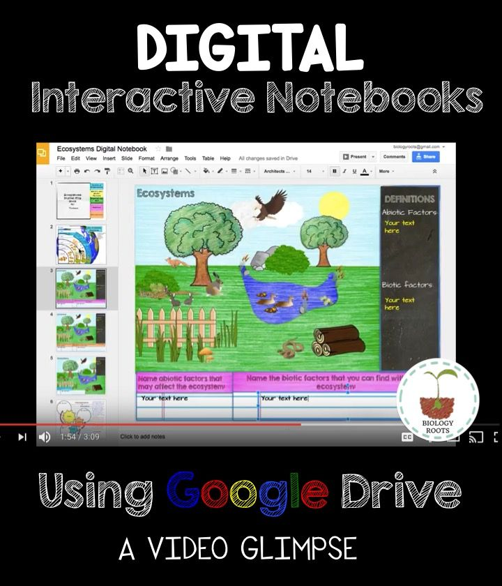 Youtube video on how you might use a digital interactive notebook in youtube video on how you might use a digital interactive notebook in the biology or life urtaz Images