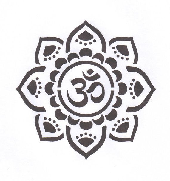 Yoga Aum Om Symbol Clipart Library