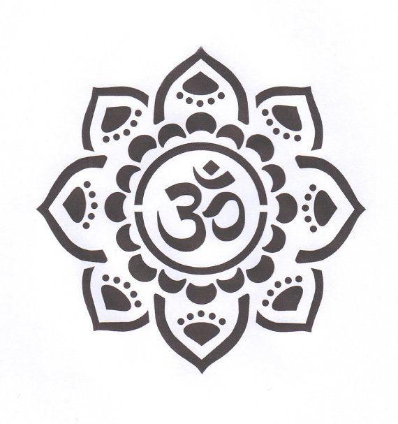 Om Mandala Stencil Yoga Stencil Om Mylar Stencil Om Stencil