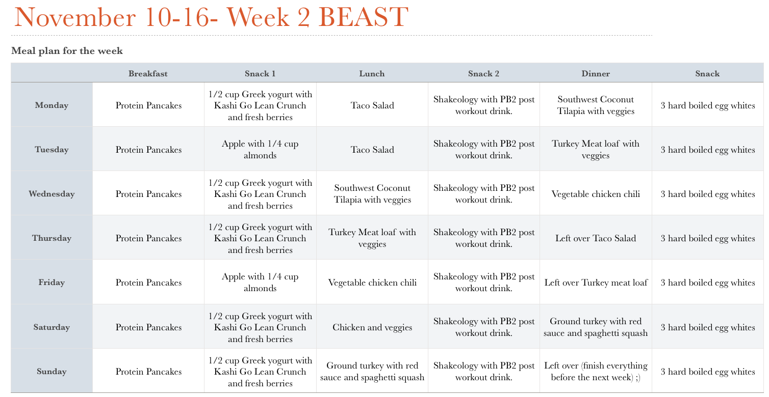 Body Beast Workout Nutrition Plan Eoua Blog