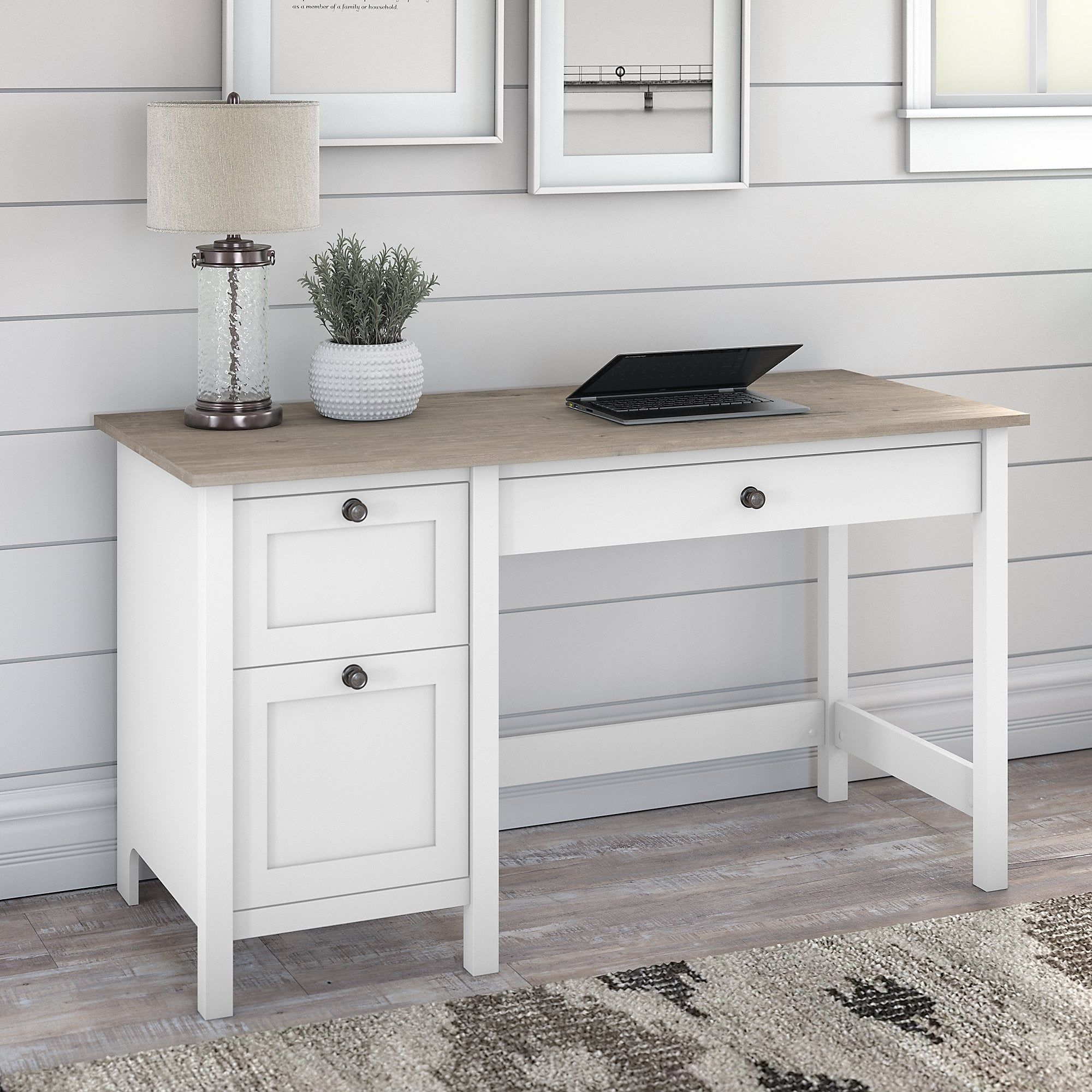 Mayfield 54W Computer Desk with Drawers by Bush Furniture