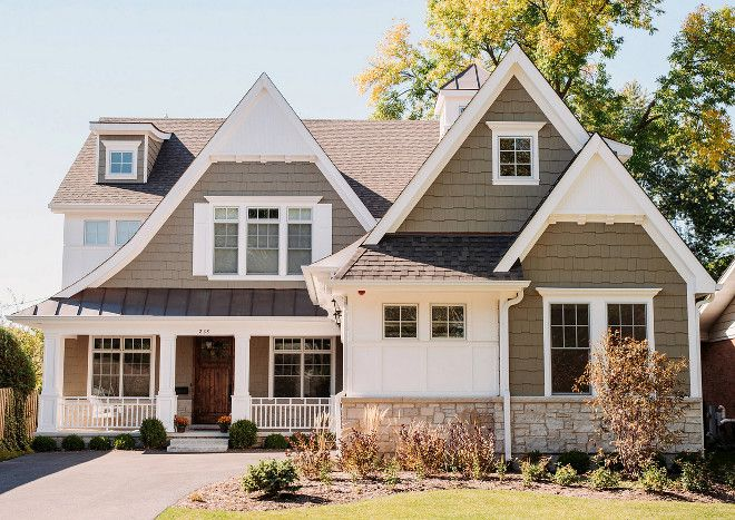 The Siding Is James Hardi Khaki Brown And The Metal Roofing Is Architectural Dark Bronze Craftsman Bungalow Exterior Farm House Colors House Designs Exterior