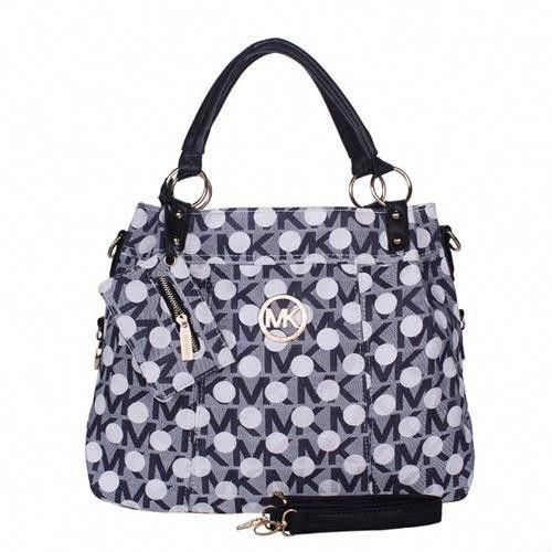 Michael Kors Classic Monogram Dotted Large Grey Totes # ...