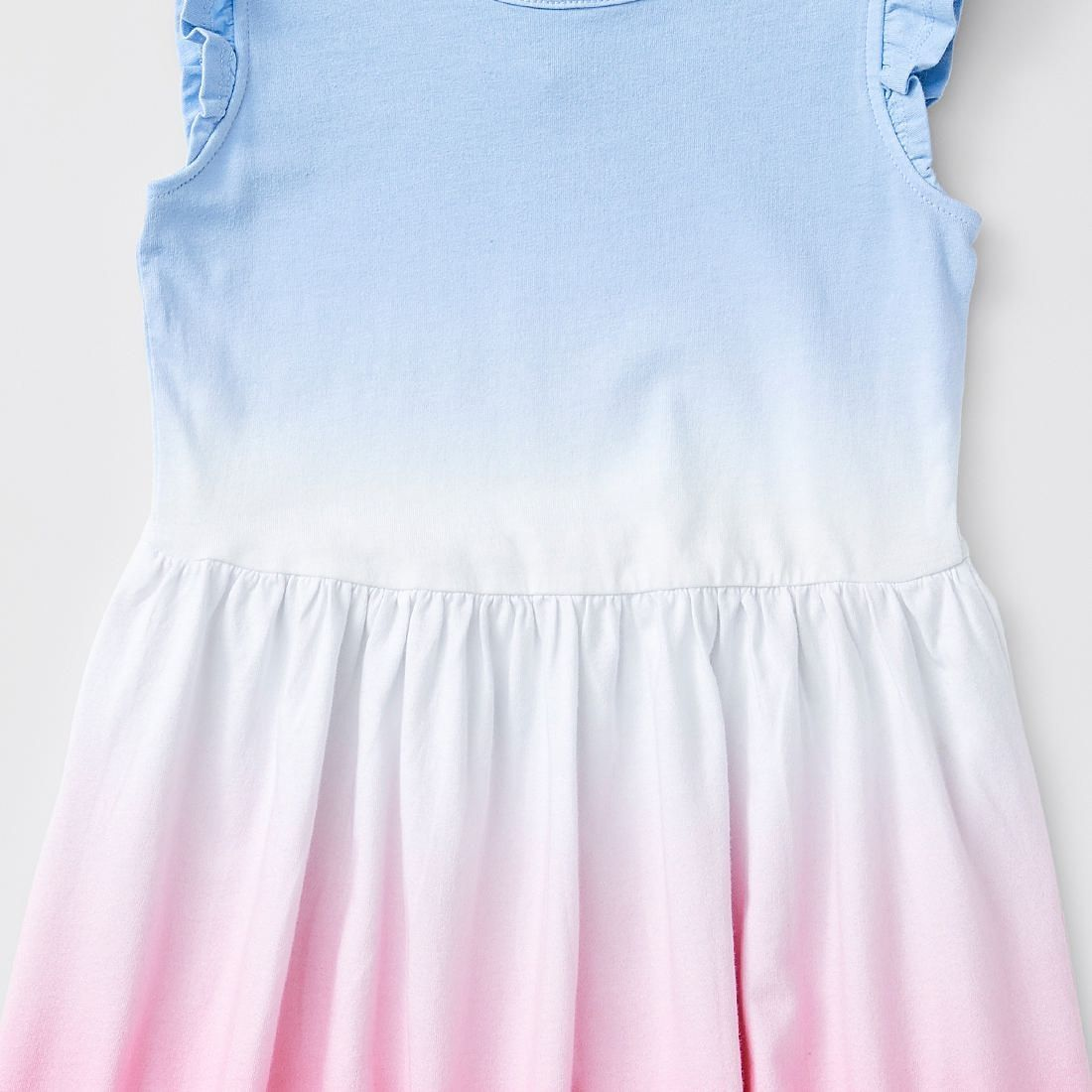 Ombre Print Frill Shoulder Dress Blue Target Australia [ 1100 x 1100 Pixel ]