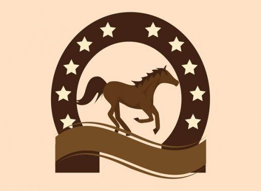 Horseshoe brown. Fashion for clipart saddle