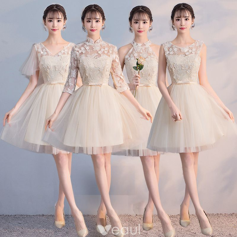 Vestidos de damas de honor para bodas cortos