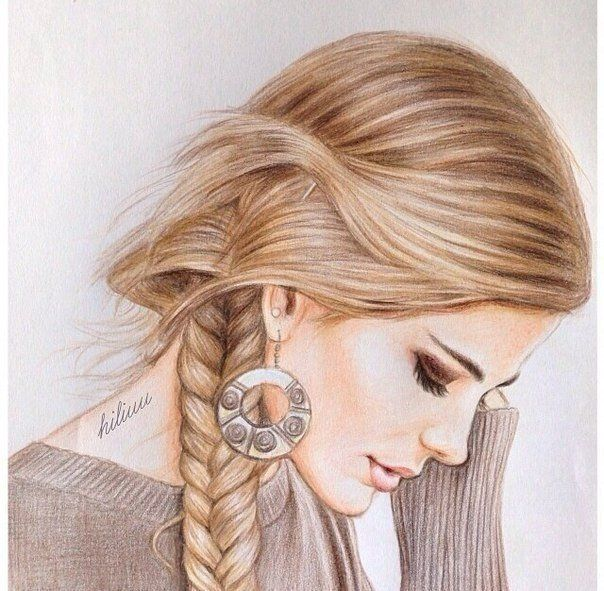 hairstyles cute draw - Google претрага | Beautiful girl drawing, Hair sketch, Art