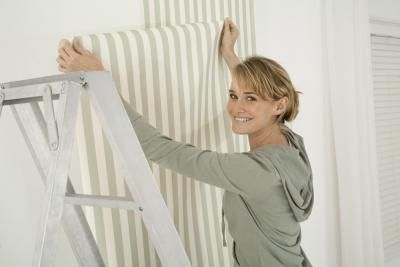 How To Put Wallpaper On Formica Ehow Paintable Wallpaper Homemade Wallpaper How To Hang Wallpaper