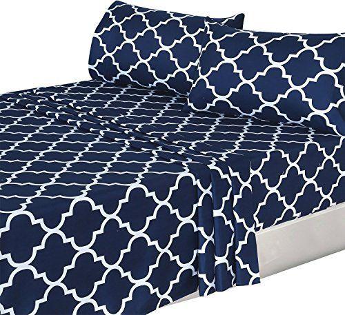 Utopia Bedding 3 Piece Bed Sheets Set Twin Navy 1 Flat Https Www Amazon Com Dp B00vnhd8w6 Ref Cm Sw R Pi Bed Sheet Sets Best Bed Sheets Soft Bed Sheets