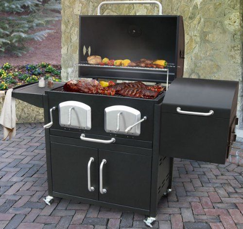 Summer Charcoal Grill Offset Smoker Bbq Outdoor Charcoal Big Cooking Cookout Backyard Grilling Charcoal Bbq Grill Charcoal Bbq