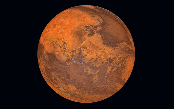 Download Wallpapers Mars Red Planet Solar System Open Space 4k Science Besthqwallpapers Com Red Planet Mars Space Planets