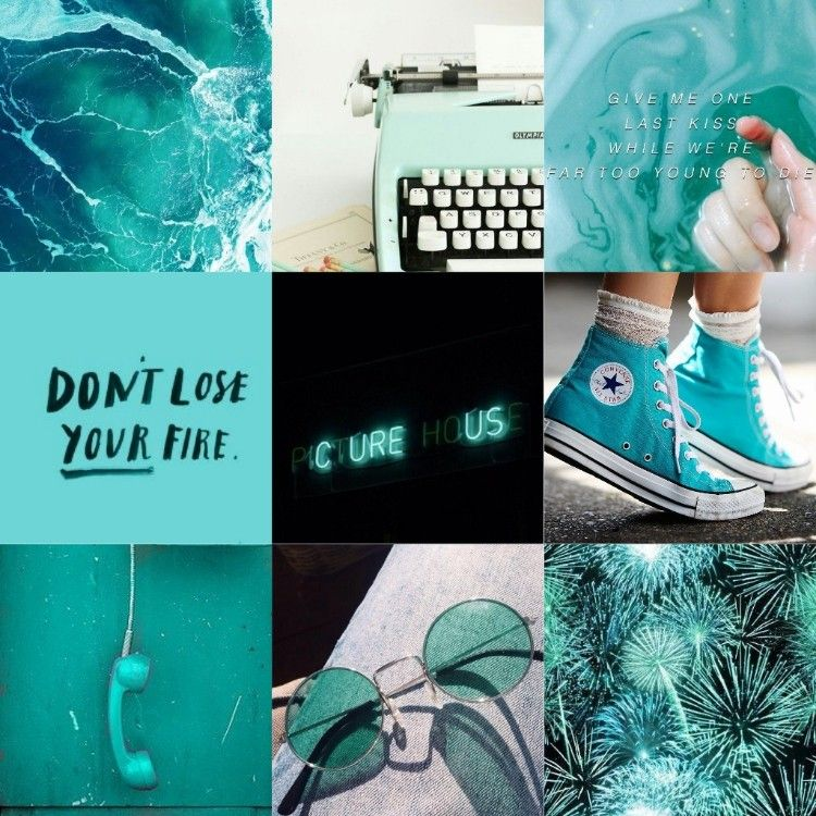 Turquoise Aesthetic Collage Pastel Pink Aesthetic Blue Aesthetic