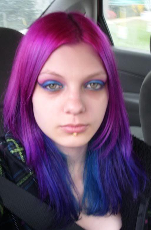 Purple Blue Teal Dyed Hair Naomi Pinterest Neon Hair