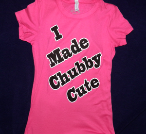 """""""Panda - I made chubby cute!"""" (Hot pink shirt with black and white ink) - Front view.  Available @ BadAccents!"""